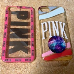 Two Victoria's Secret iPhone 6/7/8s cases.